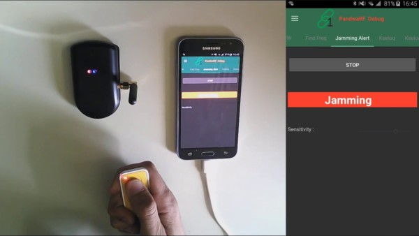 PandwaRF jamming detection